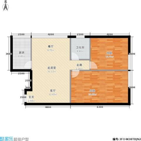 富仕雅庭2室0厅1卫1厨100.00㎡户型图