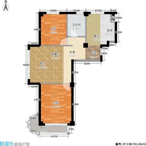 文华园2室1厅1卫0厨96.00㎡户型图
