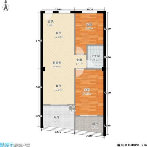 富仕雅庭2室0厅1卫1厨90.00㎡户型图