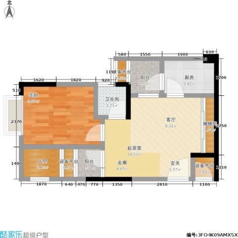 华宇老街印象1室0厅1卫1厨44.90㎡户型图