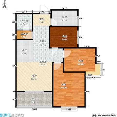 欧罗巴小镇3室0厅1卫1厨96.00㎡户型图