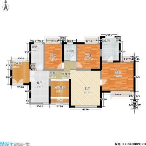 世纪春城3室1厅2卫1厨139.00㎡户型图