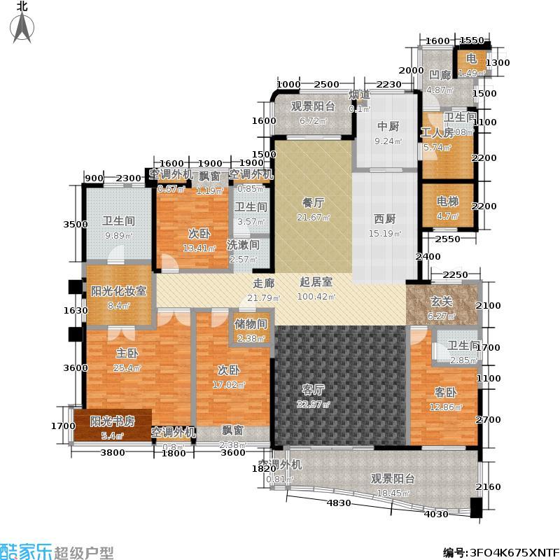 融科紫檀283.00㎡融科紫檀户型图35,36号栋E户型5室2厅4卫(2/4张)户型5室2厅4卫