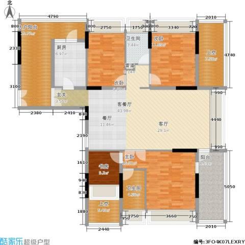 金地梅陇镇4室1厅2卫1厨140.00㎡户型图