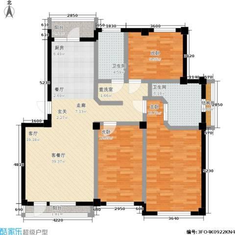中瀛臻堡3室1厅2卫0厨112.72㎡户型图