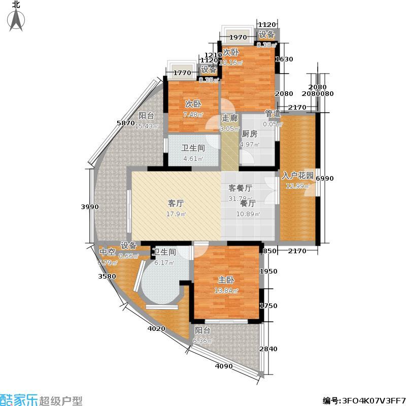 世纪春城120.00㎡房型户型