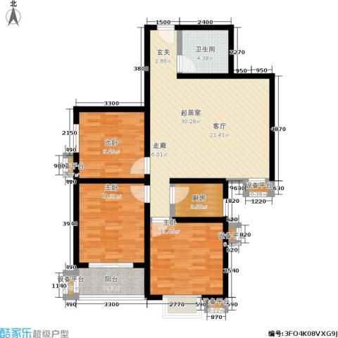 美丽的院子3室0厅1卫1厨105.00㎡户型图