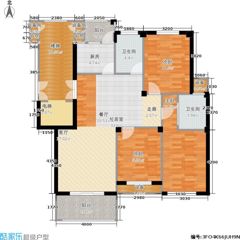 滨海都市花园120.00㎡B户型3室2厅2卫