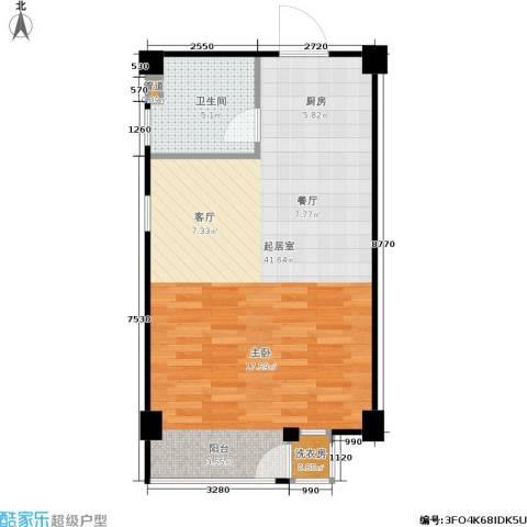 立方寓1卫0厨64.00㎡户型图