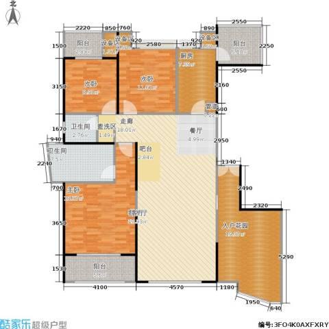 雅景湾3室1厅2卫1厨145.00㎡户型图