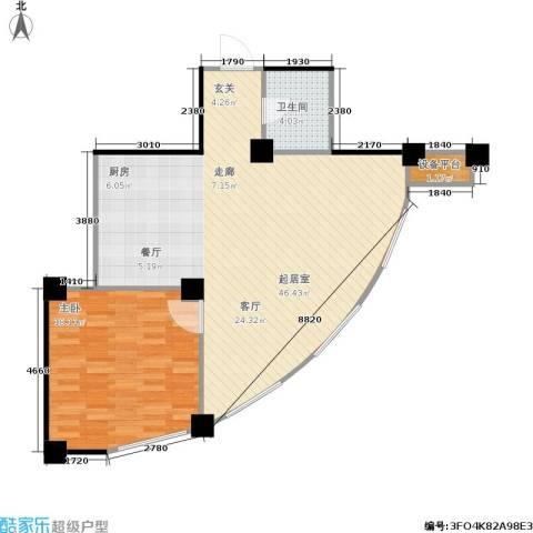 水木华庭1室0厅1卫0厨94.00㎡户型图