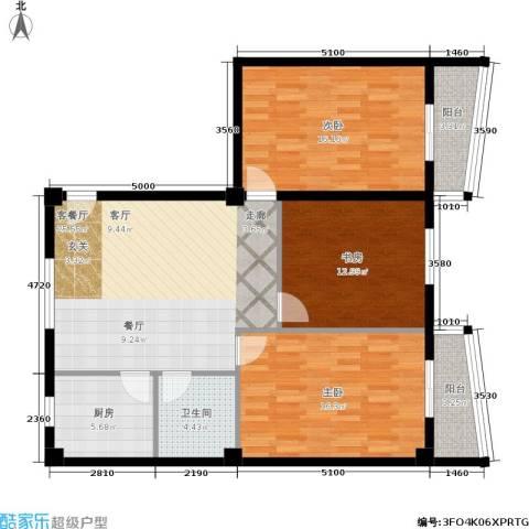 双龙小区3室1厅1卫1厨122.00㎡户型图