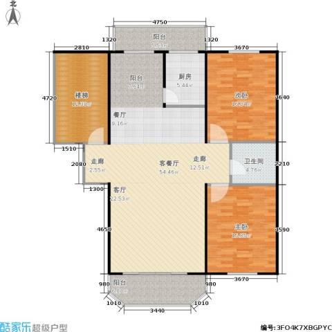 盛天家苑2室1厅1卫1厨139.00㎡户型图