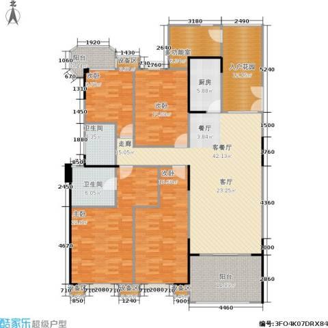 雅景湾4室1厅2卫1厨182.00㎡户型图