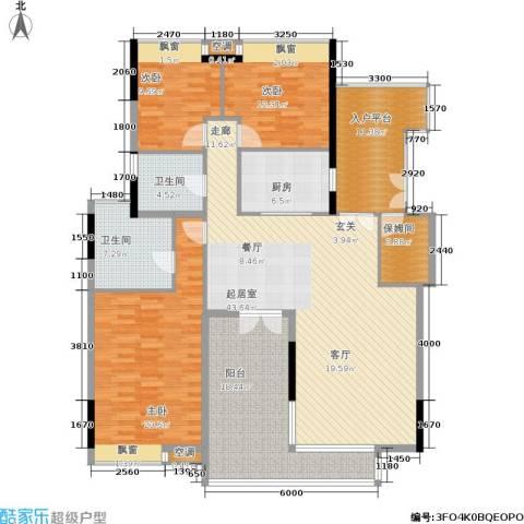 保利香雪山3室0厅2卫1厨197.00㎡户型图