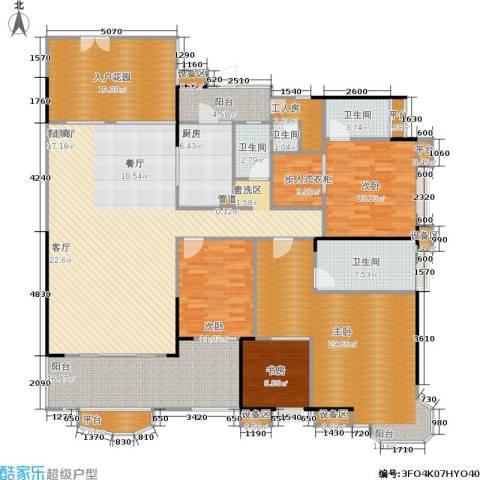 雅景湾4室1厅4卫1厨223.00㎡户型图