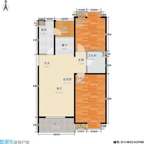 京鲁山庄2室0厅1卫1厨114.00㎡户型图