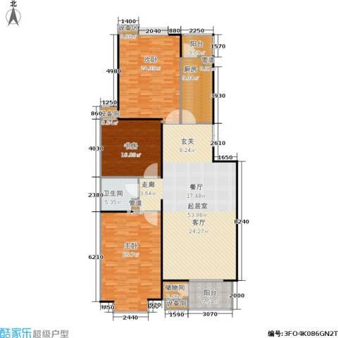 京鲁山庄3室0厅1卫1厨198.00㎡户型图