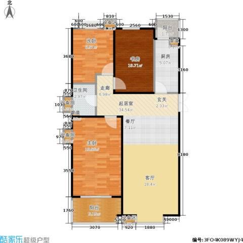 京鲁山庄3室0厅1卫1厨119.00㎡户型图