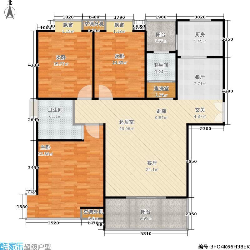 沁水新城140.00㎡沁水新城户型图LJM-18C-C13室2厅2卫(10/20张)户型10室