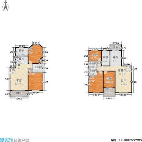 滨江美寓5室2厅3卫2厨165.59㎡户型图
