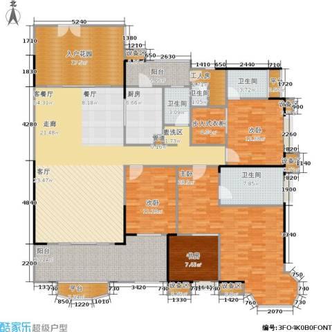 雅景湾4室1厅4卫1厨217.00㎡户型图