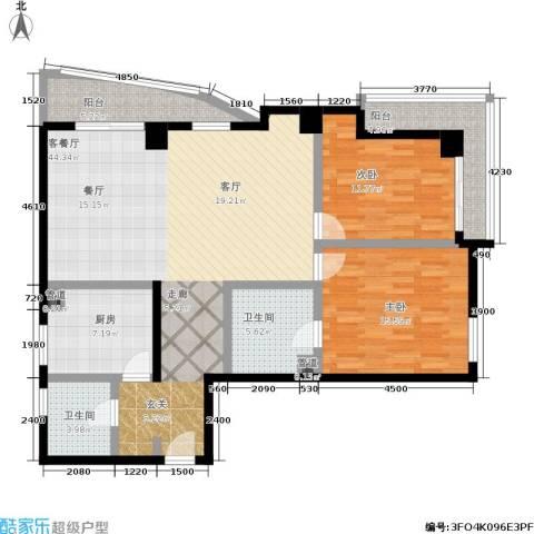 航天星苑2室1厅2卫1厨136.00㎡户型图