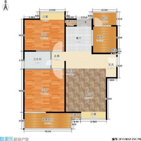 鸿基新城2室0厅1卫1厨87.00㎡户型图