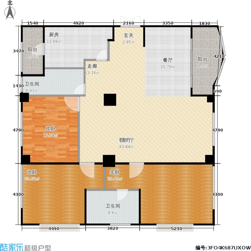 蠡湖香榭191.20㎡蠡湖香榭户型图栋5-402-3(3/6张)户型2室2厅2卫
