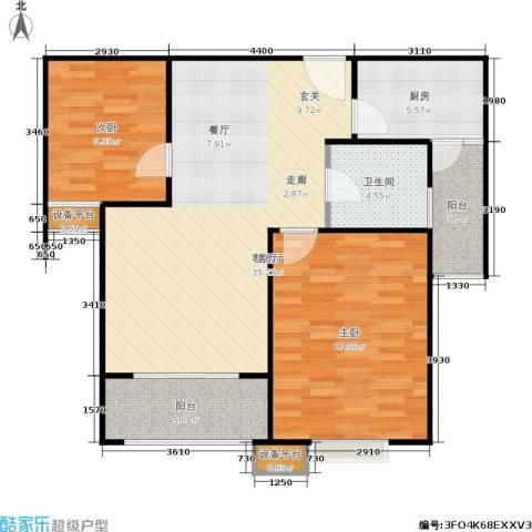 和泽佳苑2室1厅1卫1厨84.00㎡户型图