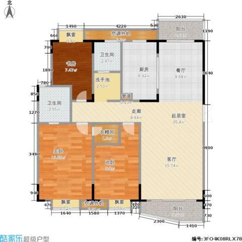 乡村花园南艳湾3室0厅2卫1厨98.00㎡户型图