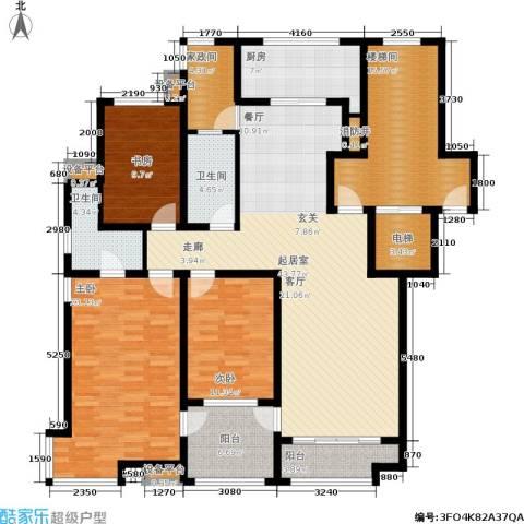 东山墅3室0厅2卫1厨160.00㎡户型图