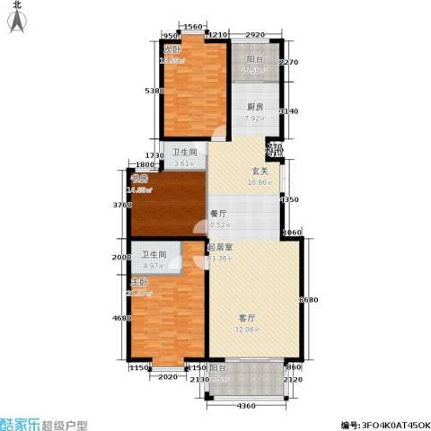 金邸山庄3室0厅2卫0厨153.00㎡户型图