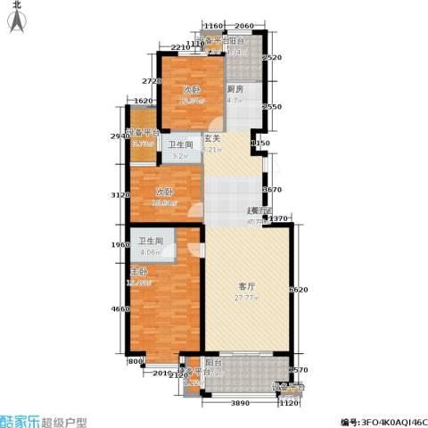 金邸山庄3室0厅2卫0厨161.00㎡户型图