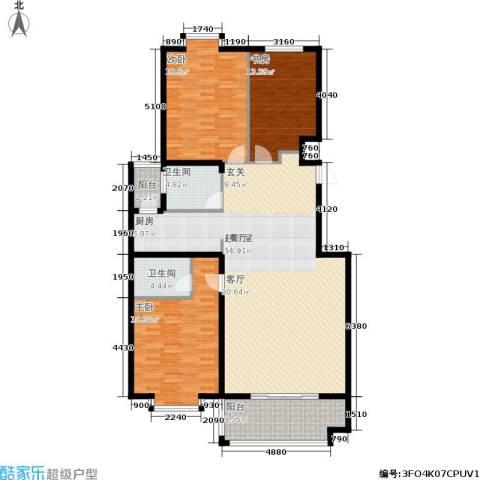 金邸山庄3室0厅2卫0厨145.00㎡户型图