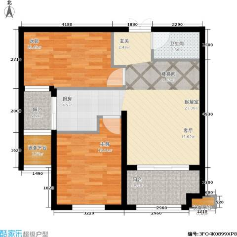 金邸山庄2室0厅1卫0厨81.00㎡户型图