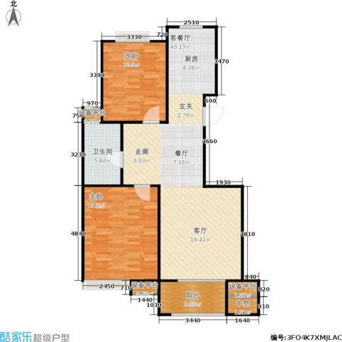 锡春华庭2室1厅1卫0厨119.00㎡户型图