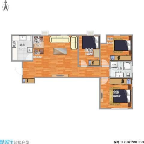明湖・白鹭郡2室1厅1卫1厨95.00㎡户型图