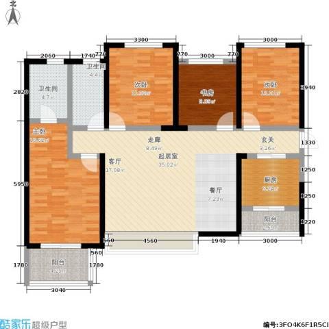 龙湖紫都城4室0厅2卫1厨147.00㎡户型图