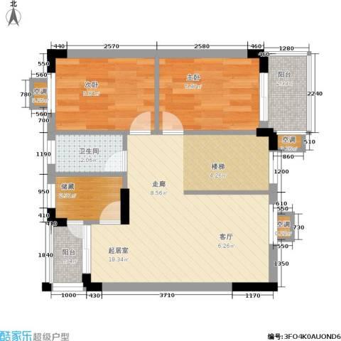 大运家园2室0厅1卫0厨90.00㎡户型图