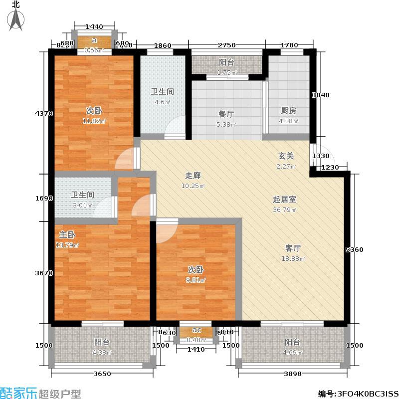 盛世嘉园111.00㎡房型户型