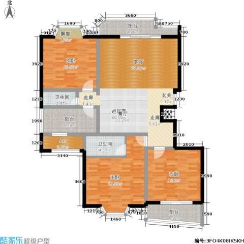 阳光丽城3室0厅2卫0厨140.00㎡户型图