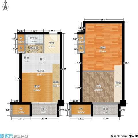 金枫国际1室0厅1卫0厨67.21㎡户型图