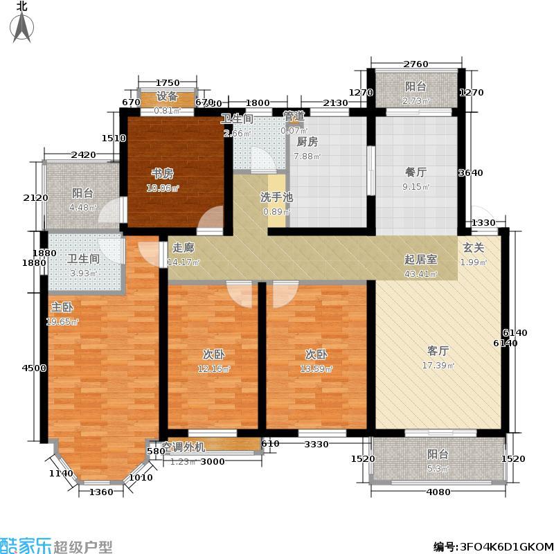 海洲景秀世家145.10㎡海洲景秀世家户型图美院四室两厅两卫(2/9张)户型4室2厅2卫