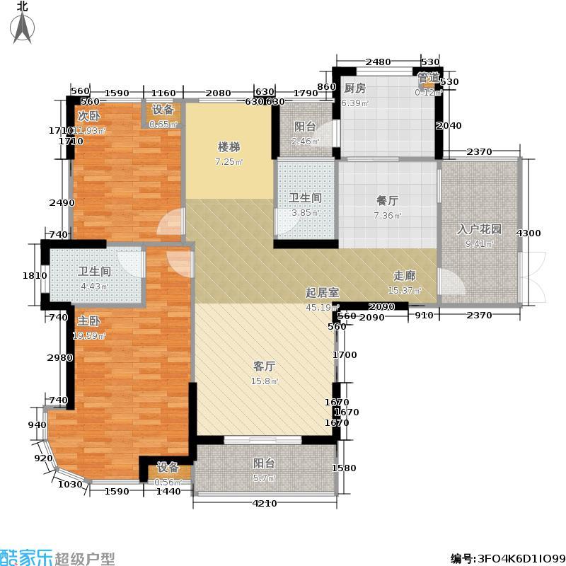 海洲景秀世家178.36㎡海洲景秀世家户型图美院复式户型三室两厅三卫(3/3张)户型3室2厅3卫
