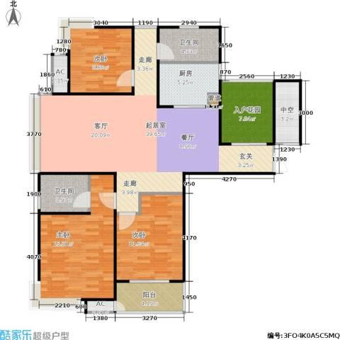 东方福郡3室0厅2卫1厨127.00㎡户型图