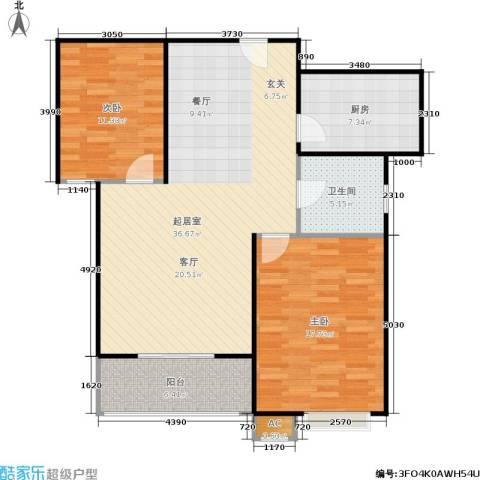 市政馨苑2室0厅1卫1厨114.00㎡户型图