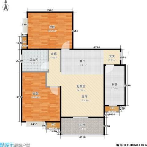 市政馨苑2室0厅1卫1厨117.00㎡户型图