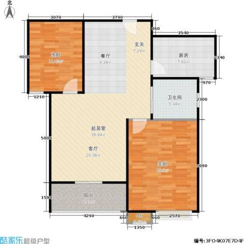 市政馨苑2室0厅1卫1厨116.00㎡户型图