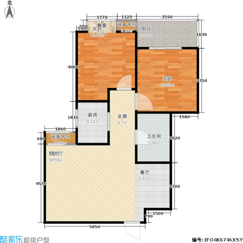 新旅城81.67㎡新旅城户型图A6(5/11张)户型2室2厅1卫